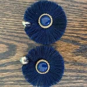 Lilly Pulitzer fan earrings in navy
